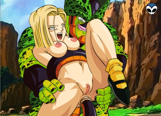 android 18 cell and porn Midnight my hero academia gif