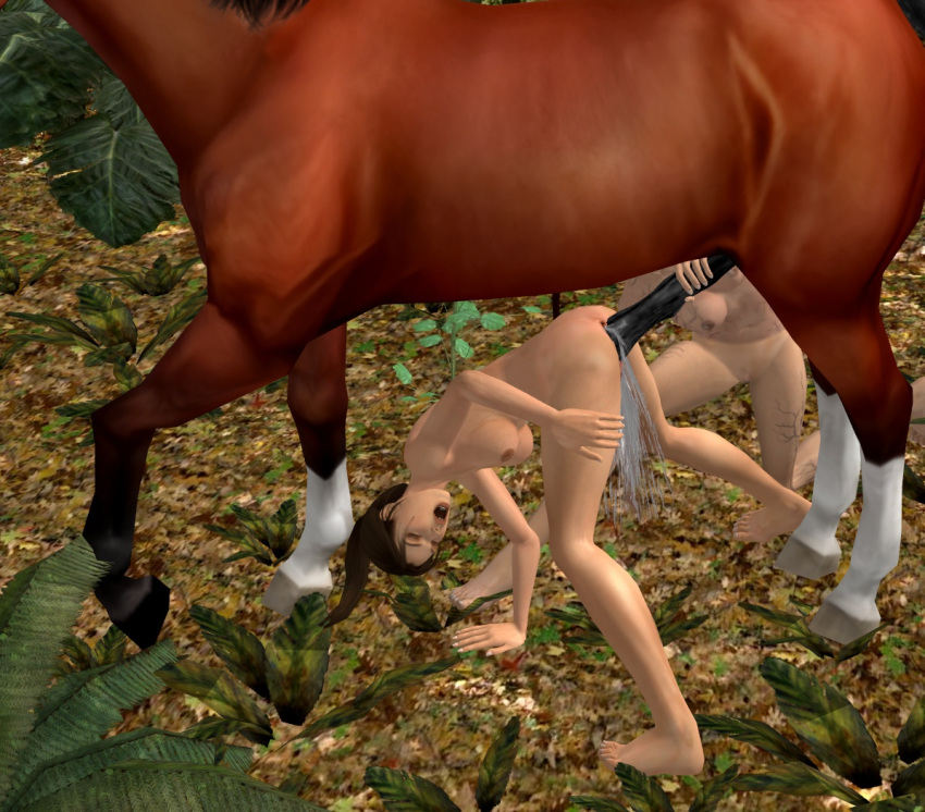 with horse lara 3d croft Almost naked animals